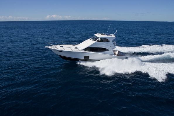 The new 470 Offshore Convertible enclosed flybridge model is a three ...